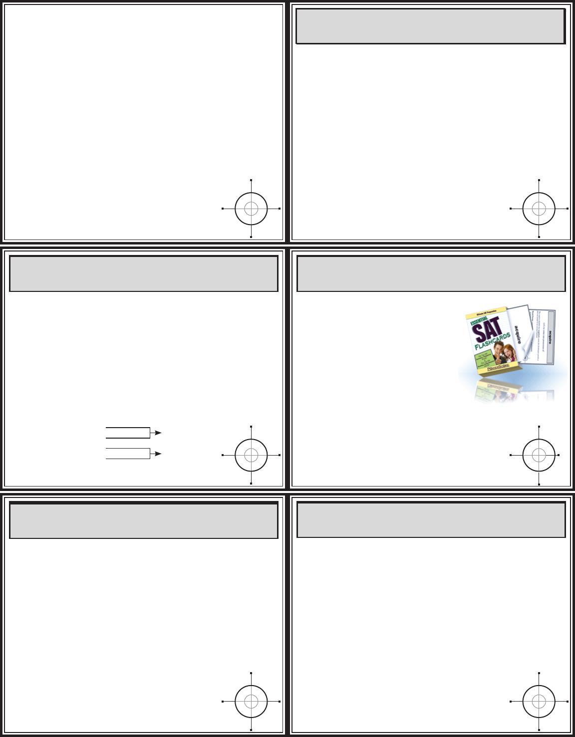 Act Math Flash Cards - [Pdf Document]