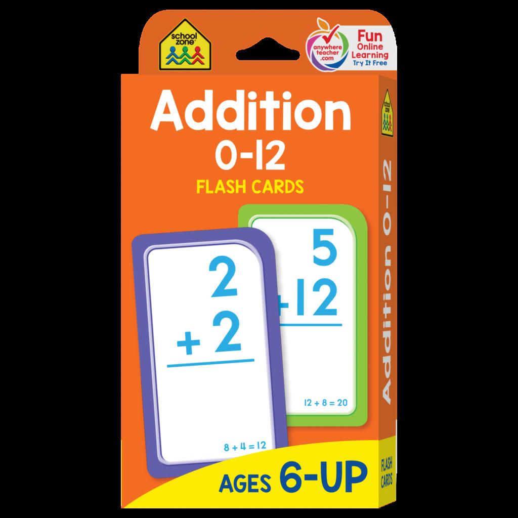 Addition 0 12 Flash Cards