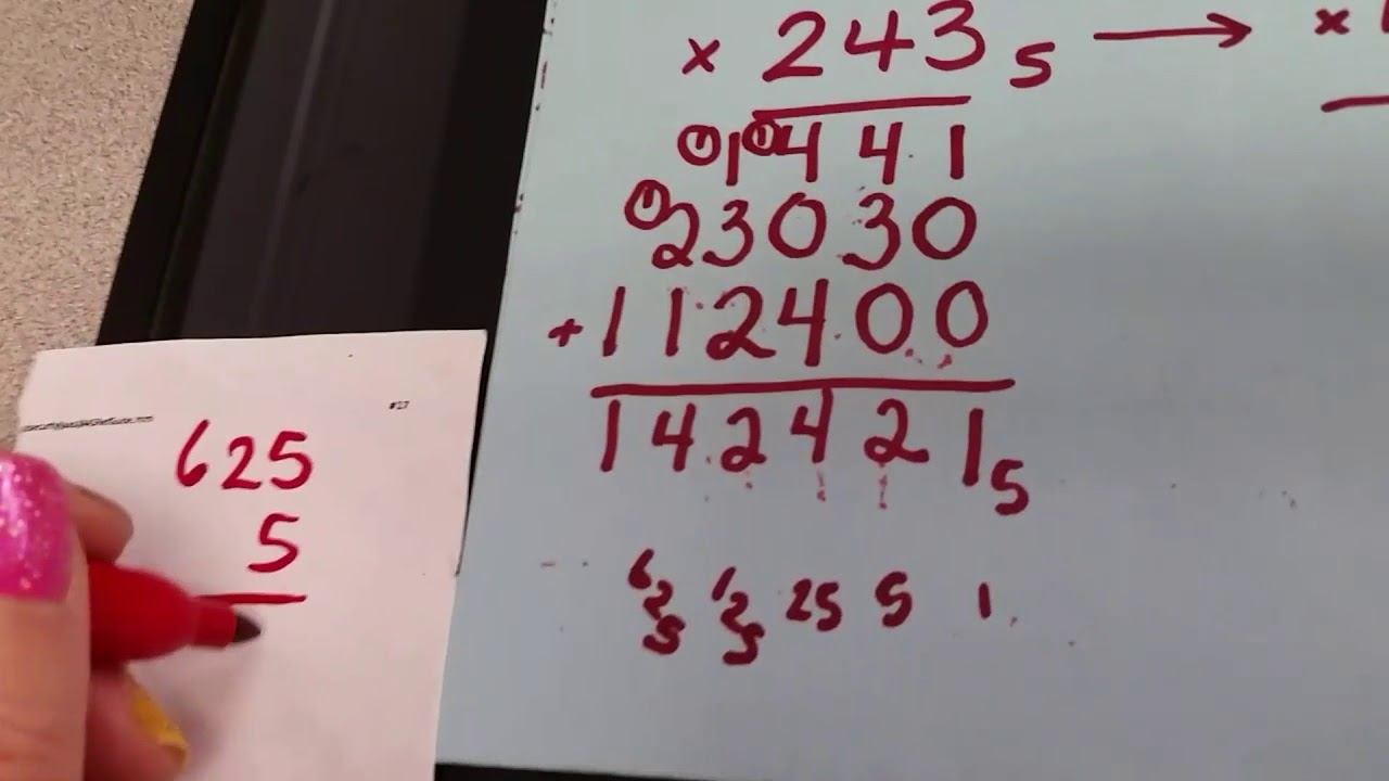 Base 5 Multiplication