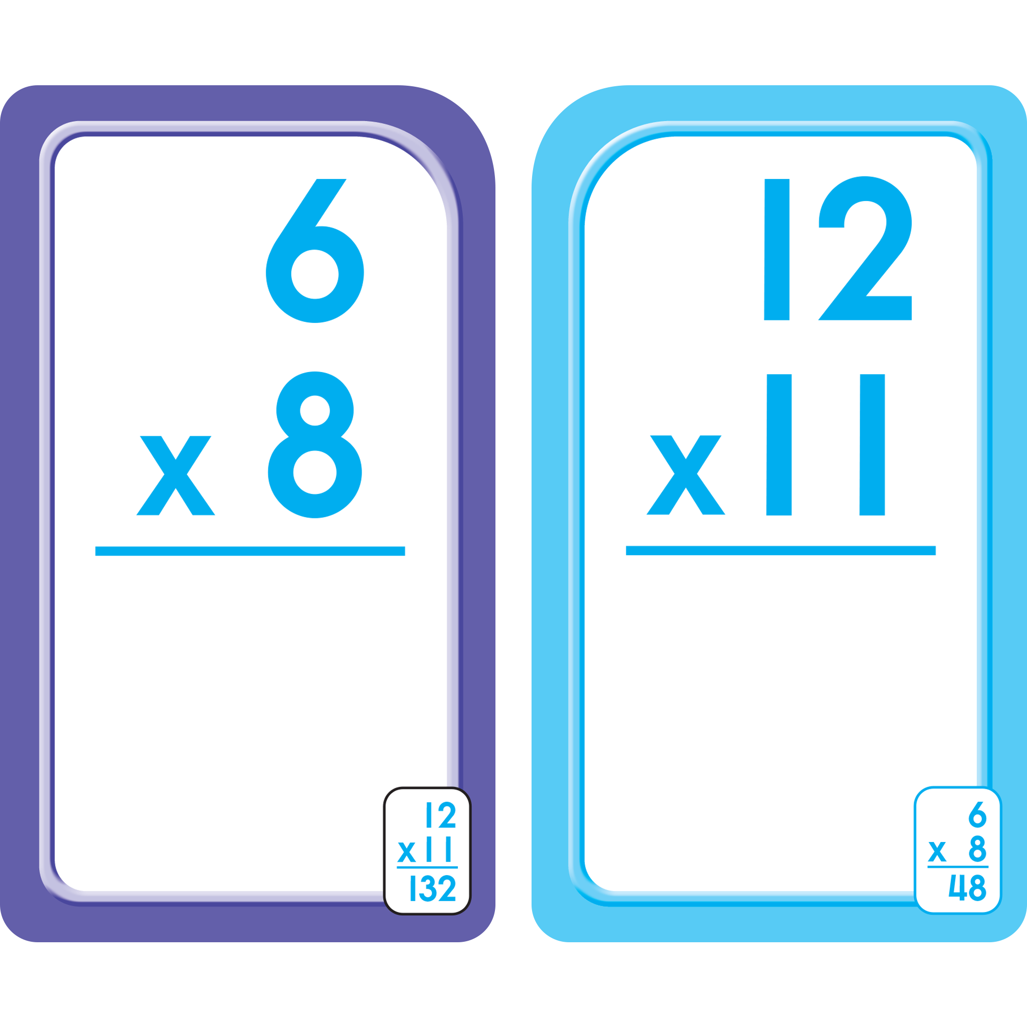 Bilingual Multiplication 0-12 Flash Cards (Multiplicacion 0-12 Tarjetas  Ilustrativas)