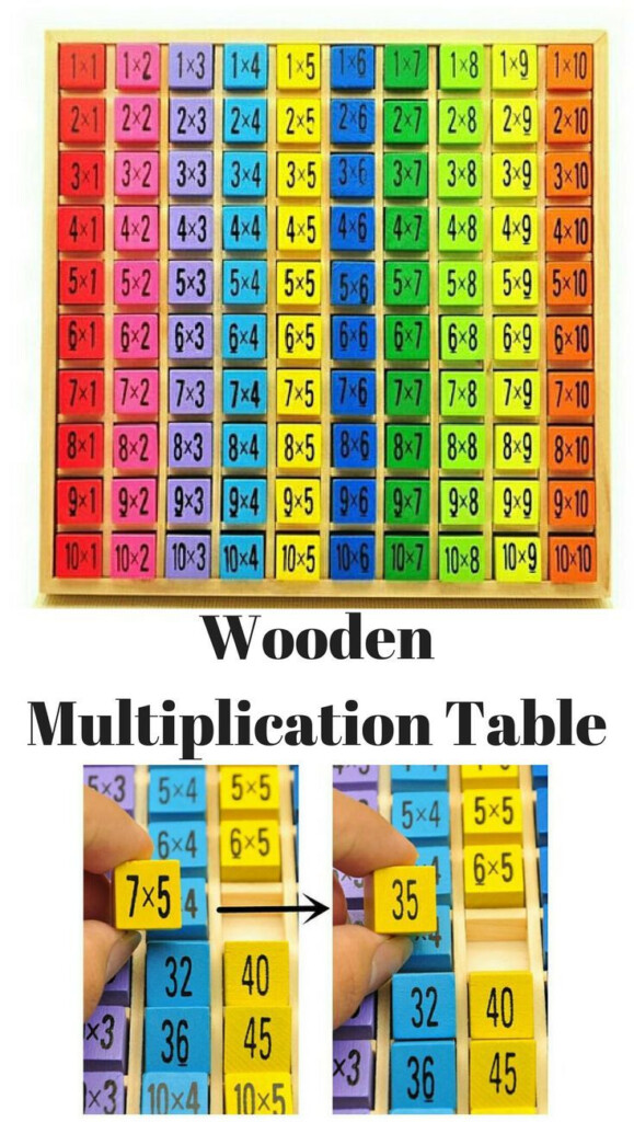 Bright Colorful Montessori Multiplication Table   Made Out