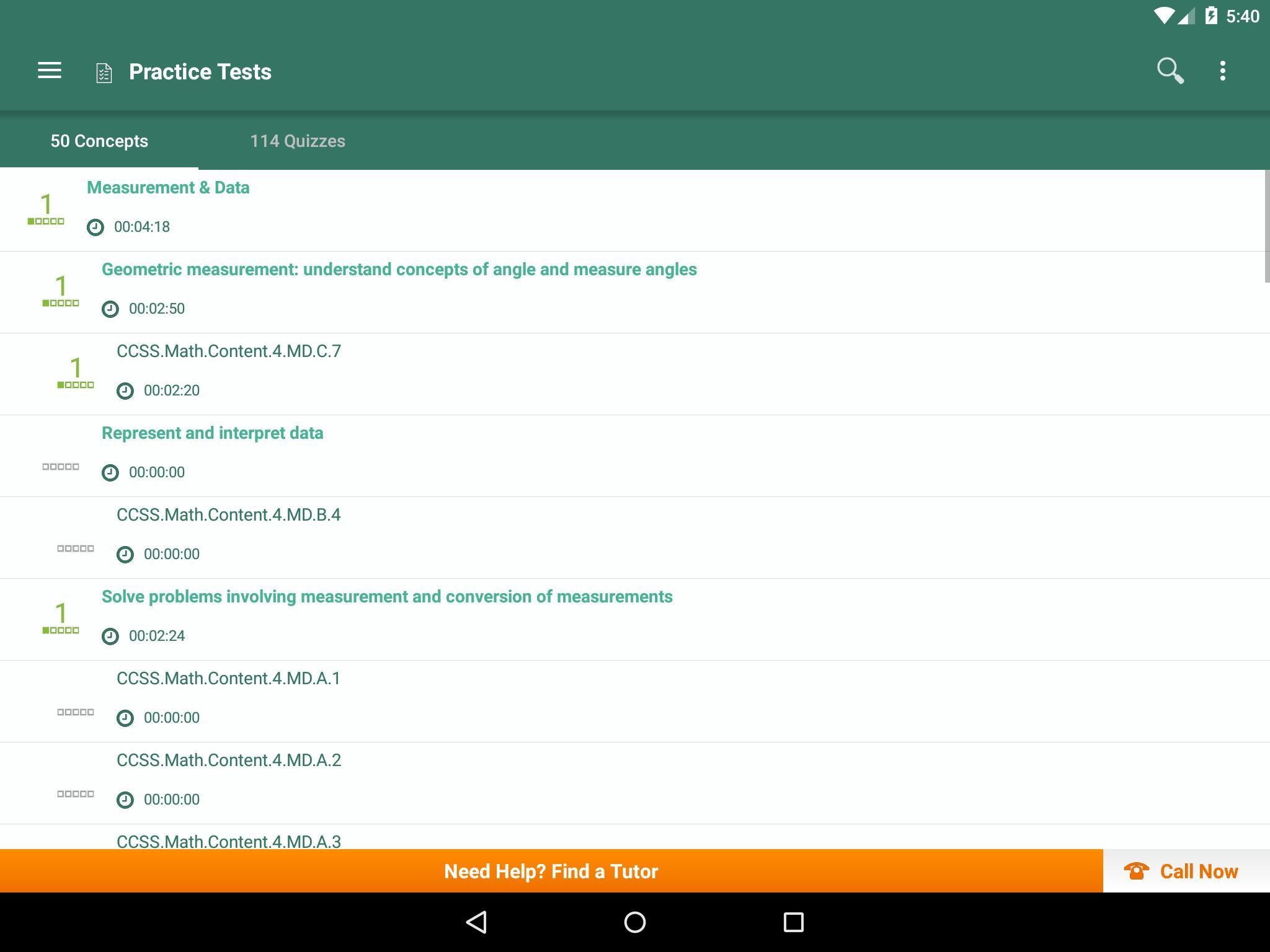 Common Core Math 4Th Grade: Practice Tests, Prep Pour