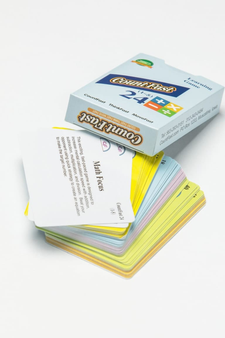 Countfast 24 (1-10) + – X ÷ Flash Cards