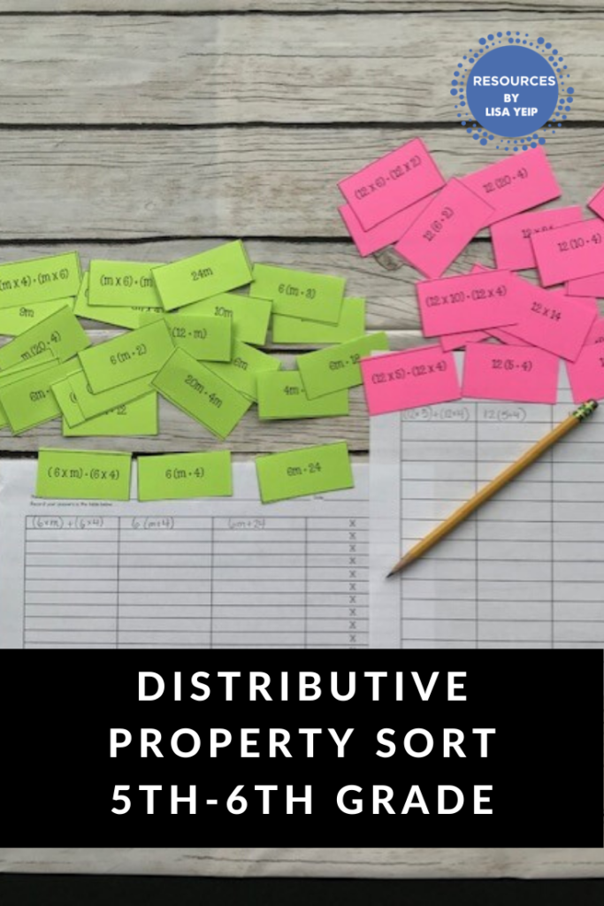 Distributive Property Hands On Sorting Activity (With Images