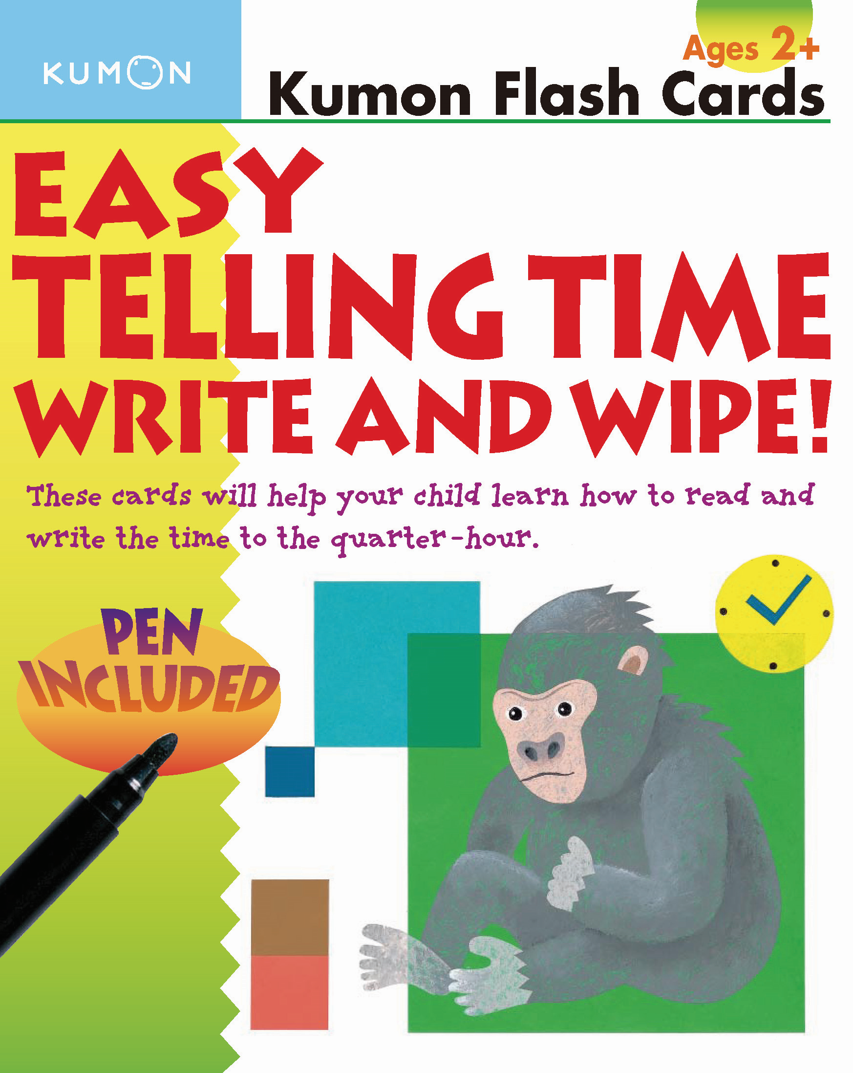 Easy Telling Time: Write And Wipe! | Kumon Publishing