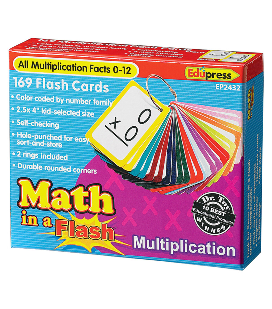 Edupress 169 Pk Multiplication Math In A Flash Cards