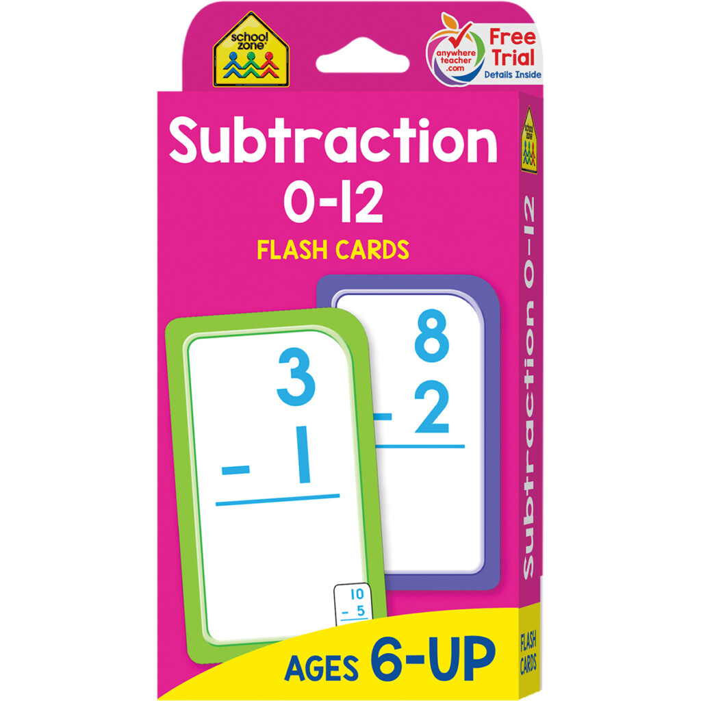 Flash Card: Subtraction 0 12 Flash Cards (Other)   Walmart