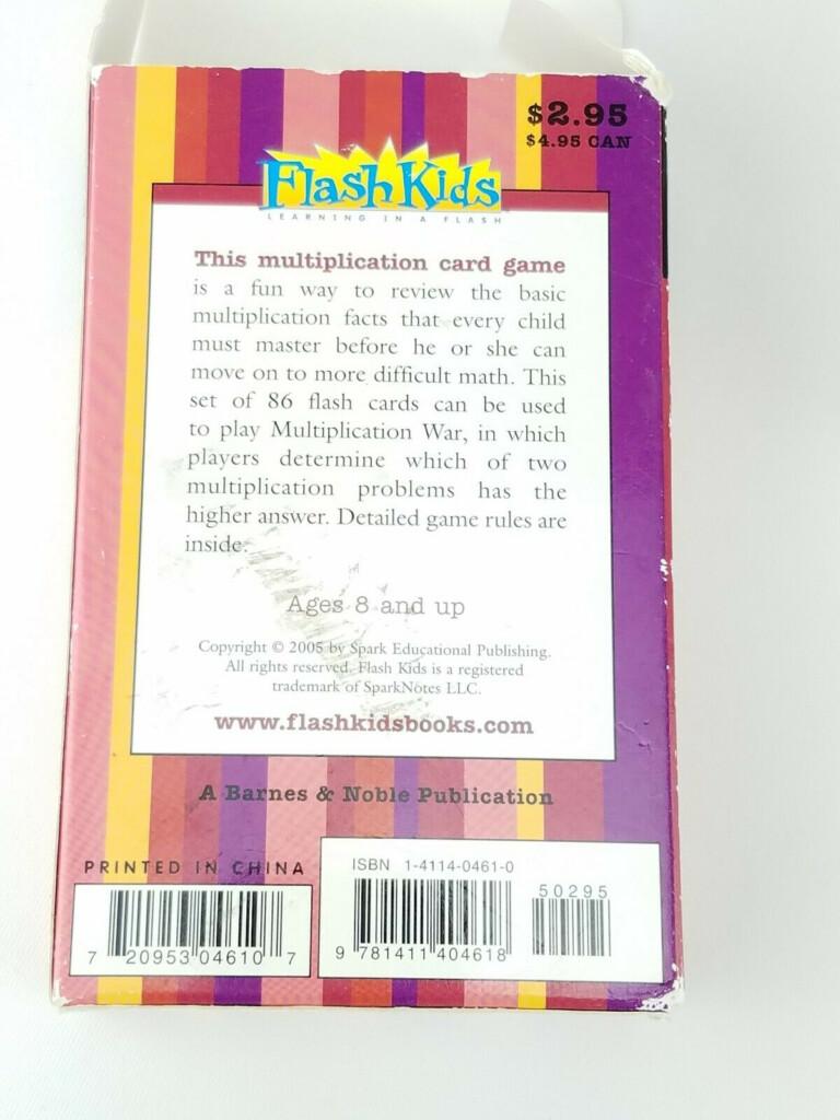Flash Kids Flash Cards: Multiplication War (Flash Kids Flash Cards) Flash Kids Editors (2005, Cards,flash Cards)