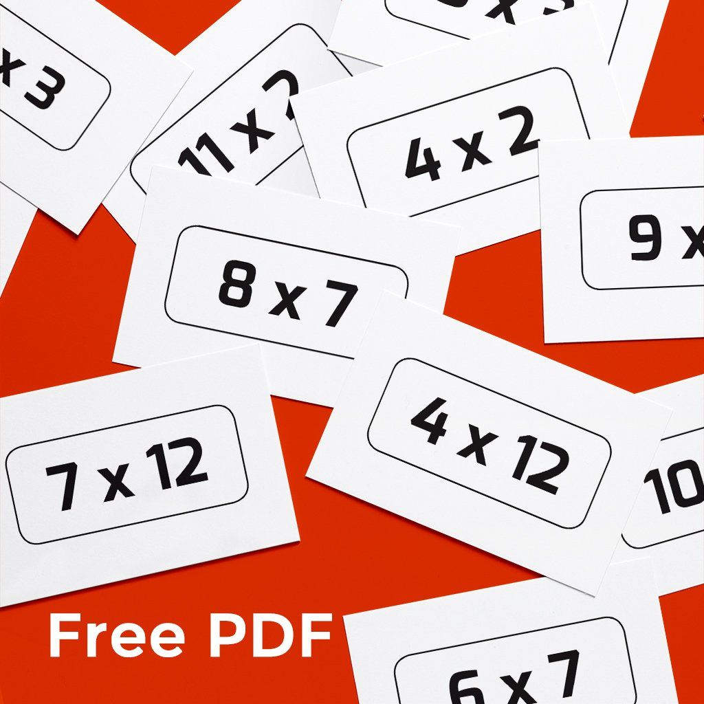 Free Printable Times Tables Cards In 2020 | Printable Times