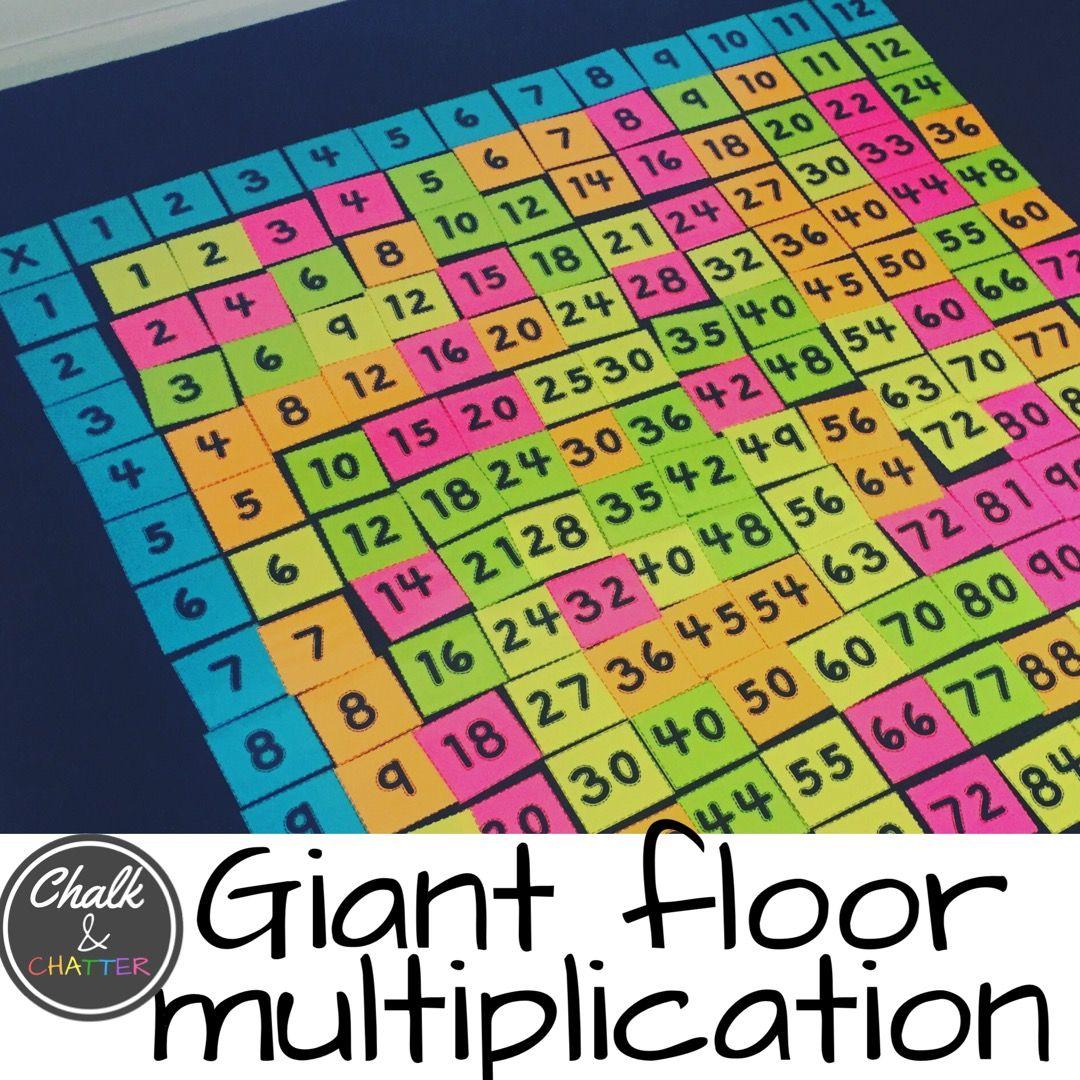 Giant Floor Multiplication Chart | Multiplication Chart