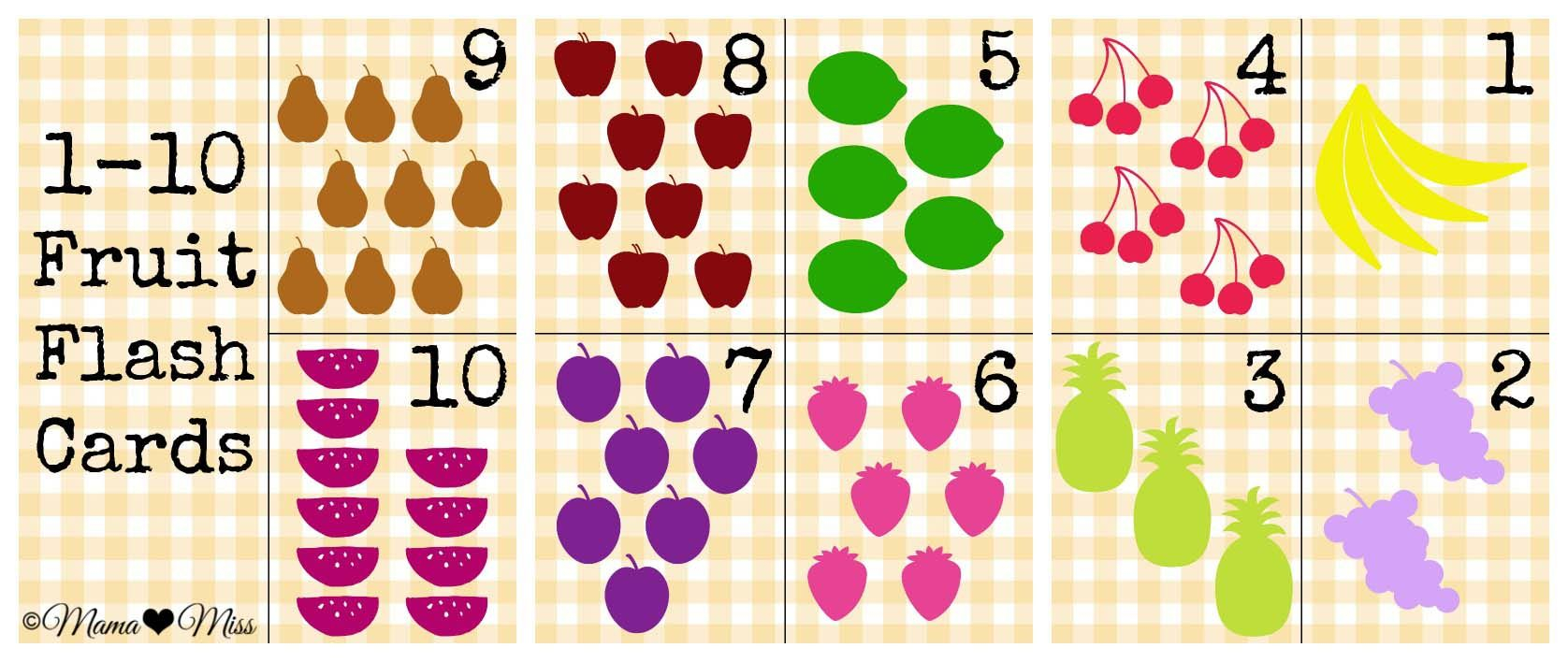 Guest Mama: Fruit Flashcards From Mama♥Miss | Printable