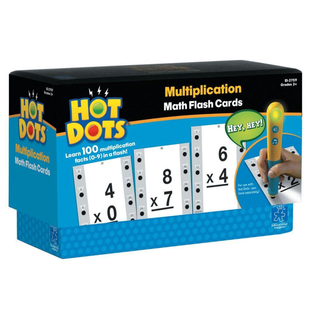 Hot Dots® Flash Cards, Multiplication Facts 0-9   Math Flash