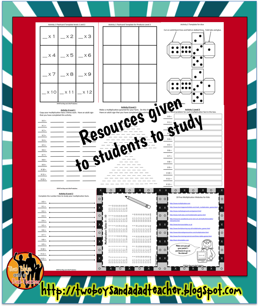 How To Get Students To Study The Multiplication Facts - Two