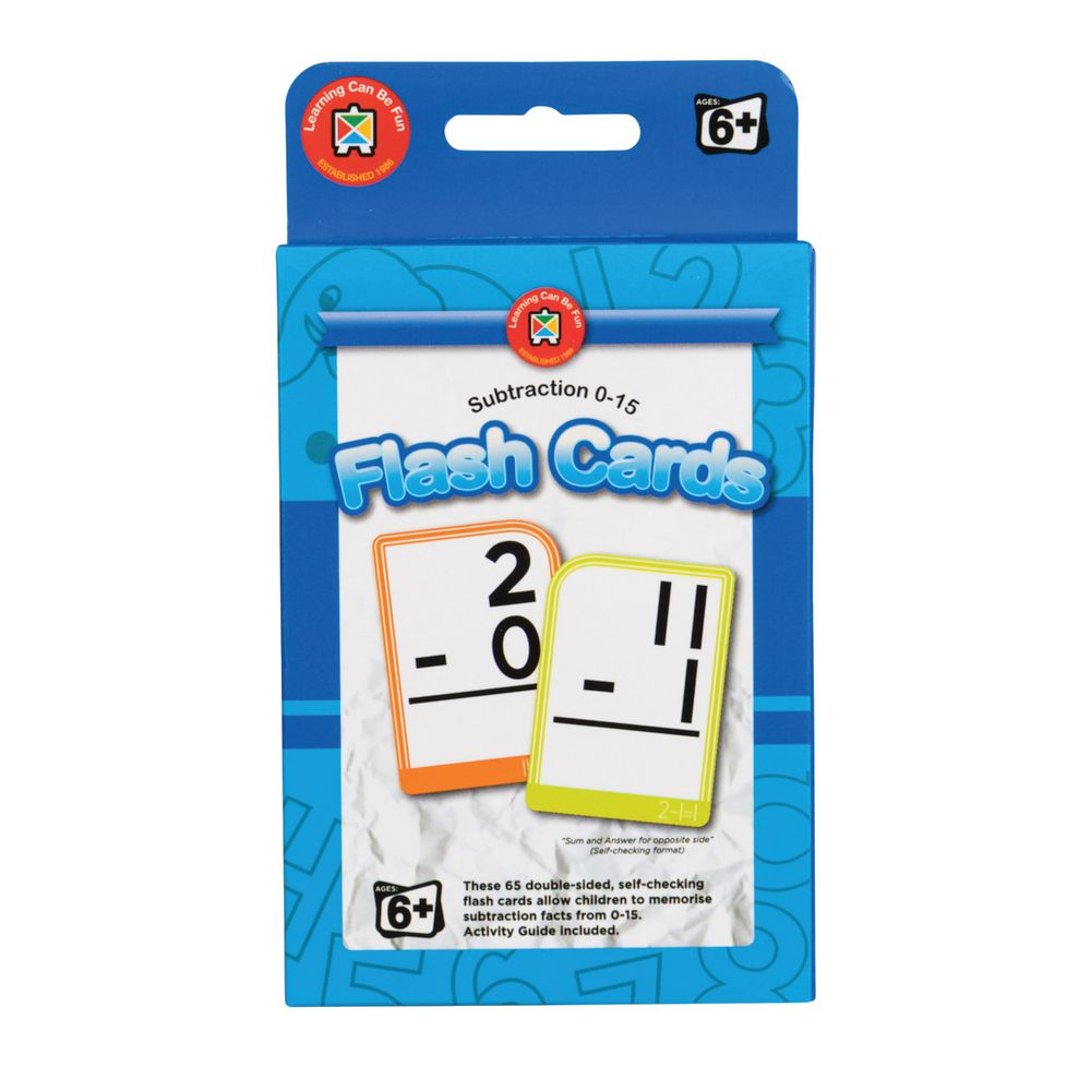 Learning Can Be Fun Flash Cards Subtraction 0-15