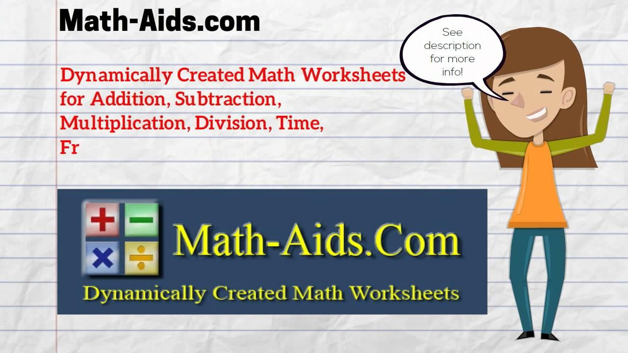 Math-Aids - Math Worksheets | Dynamically Created Math
