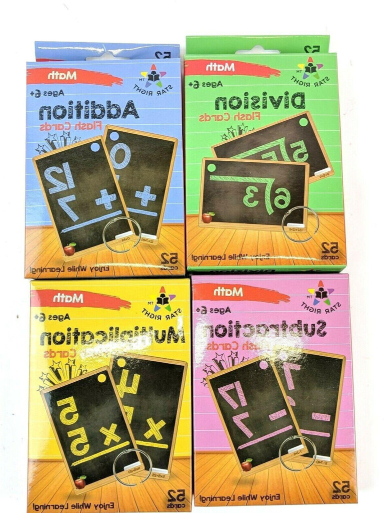 Math Flashcards Star Right Multi Addition Subtraction