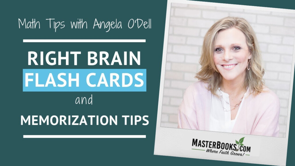 Math Tips: Right Brain Flash Cards & Memorization // Master Books  Homeschool Curriculum