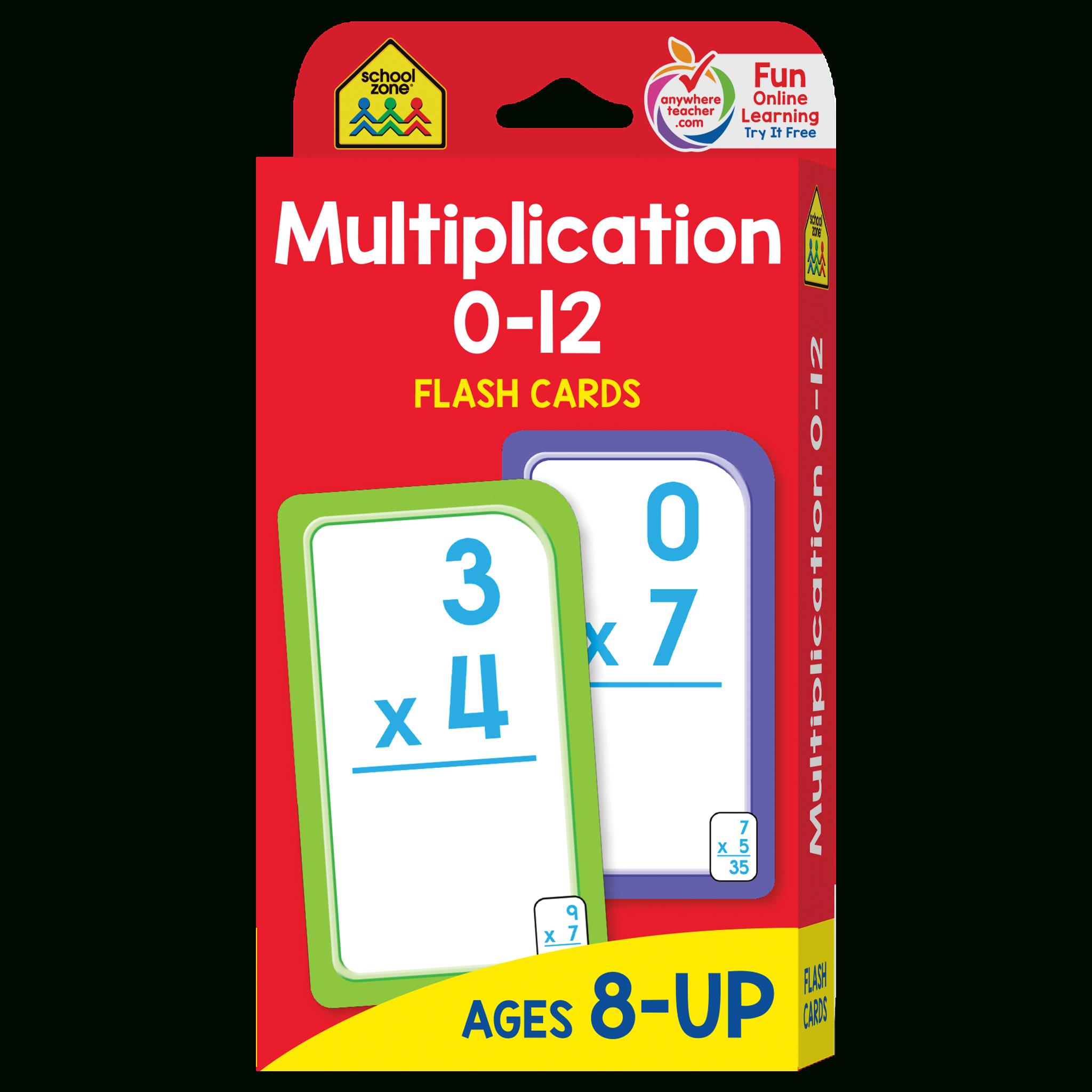 Multiplication 0-12 Flash Cards