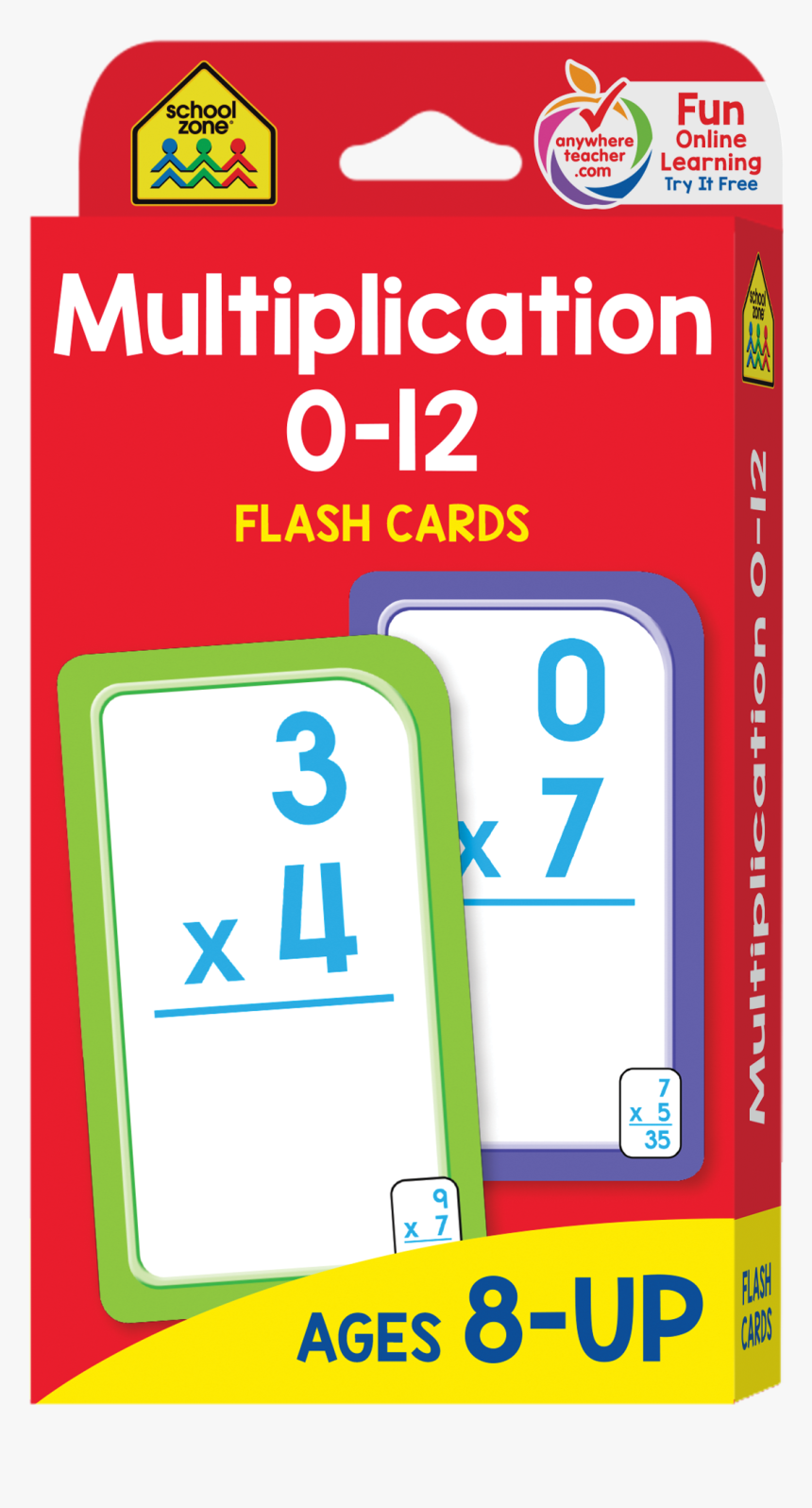 Multiplication 0-12 Flash Cards Will Make Math More