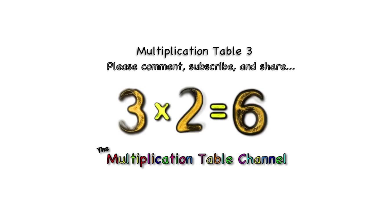 Multiplication 3 Song And Video Flash Cards