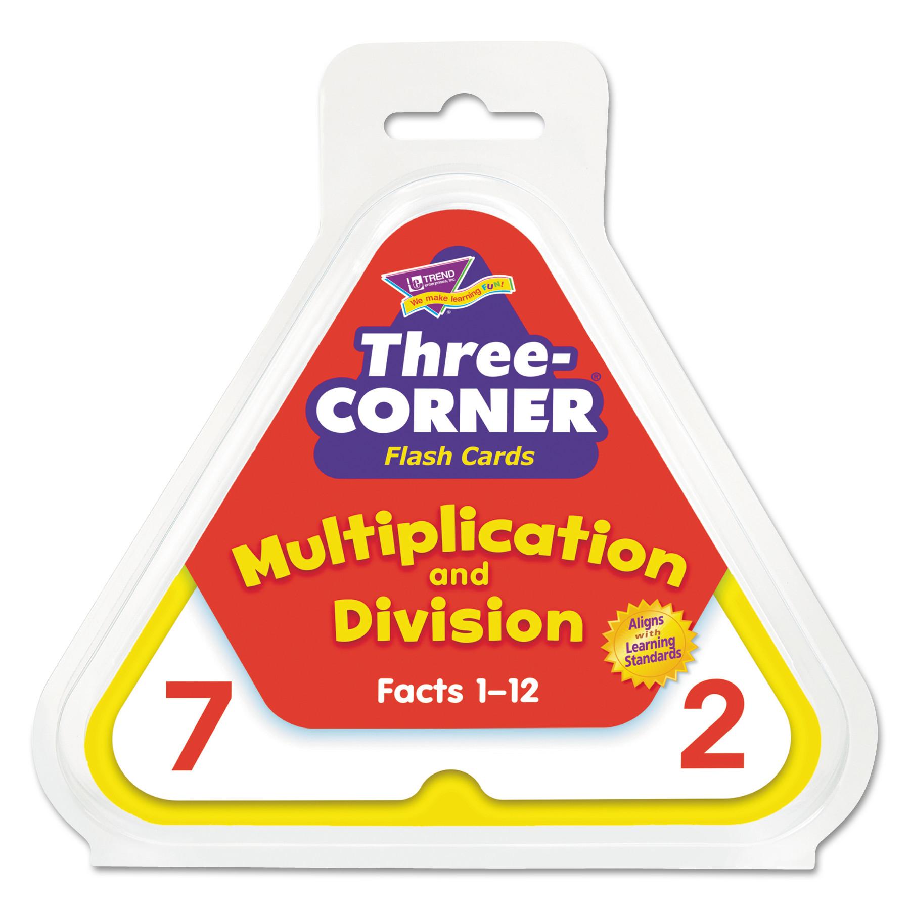 Multiplication/division Three-Corner Flash Cards, 8 & Up, 48/set
