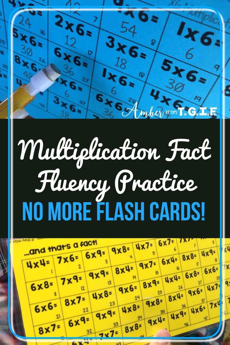 Multiplication Fact Fluency Tents For Fact Multiplication