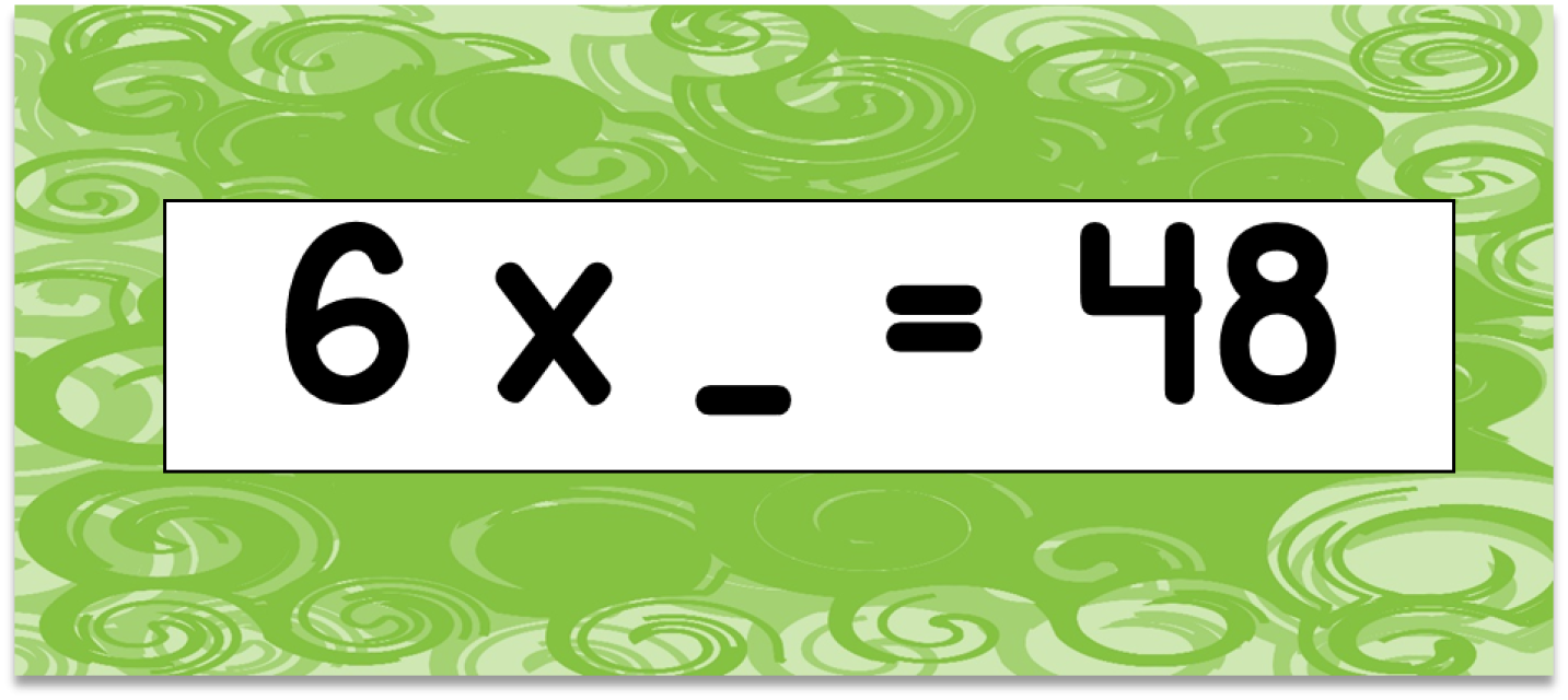 Multiplication Facts (6S) Flashcards