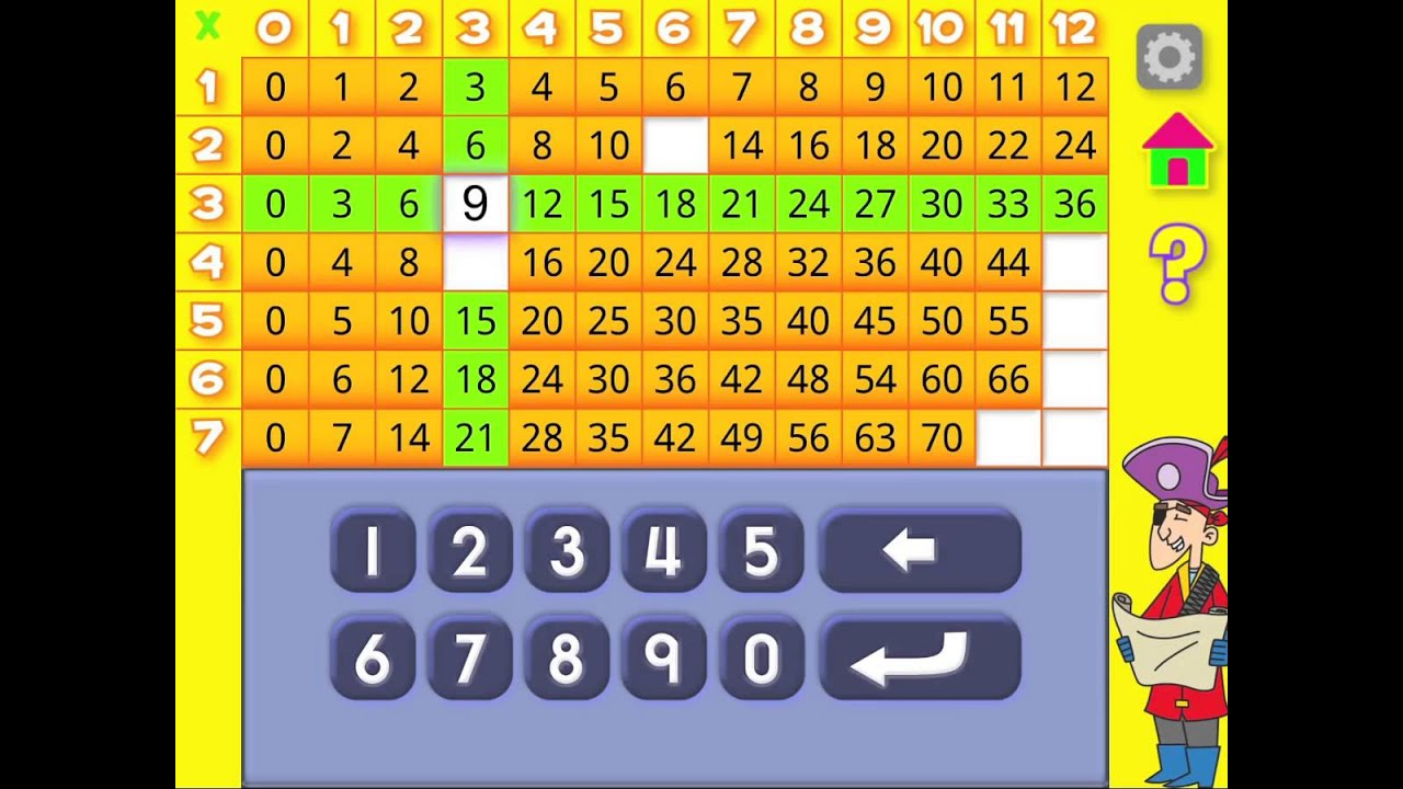 Multiplication Flash Cards App (Android & Ios)