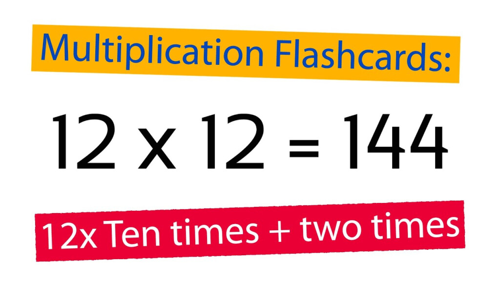 Multiplication Flashcards 12X: Ten Times Plus Two Times