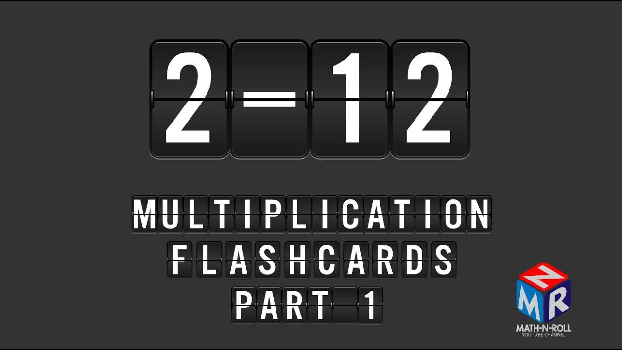 Multiplication Flashcards. Part 1
