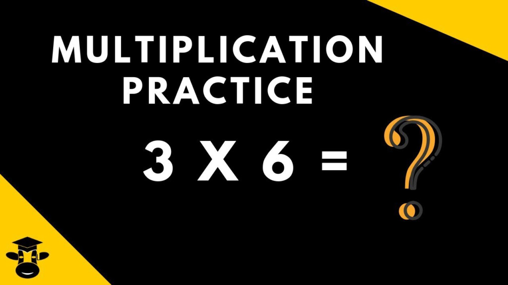 Multiplication Practice For Single Digit Multiplication