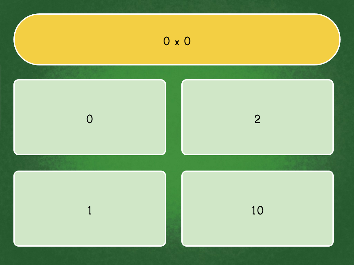 Multiply0 Quiz | Game | Education