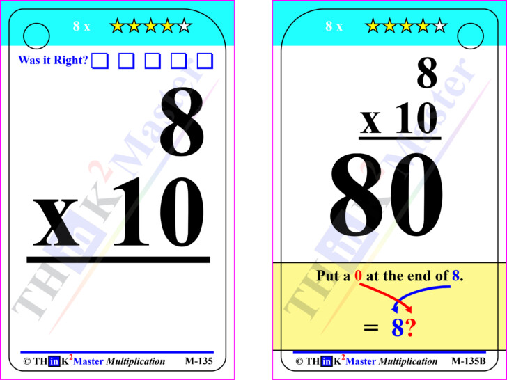 Multiplication Flash Cards Quiz