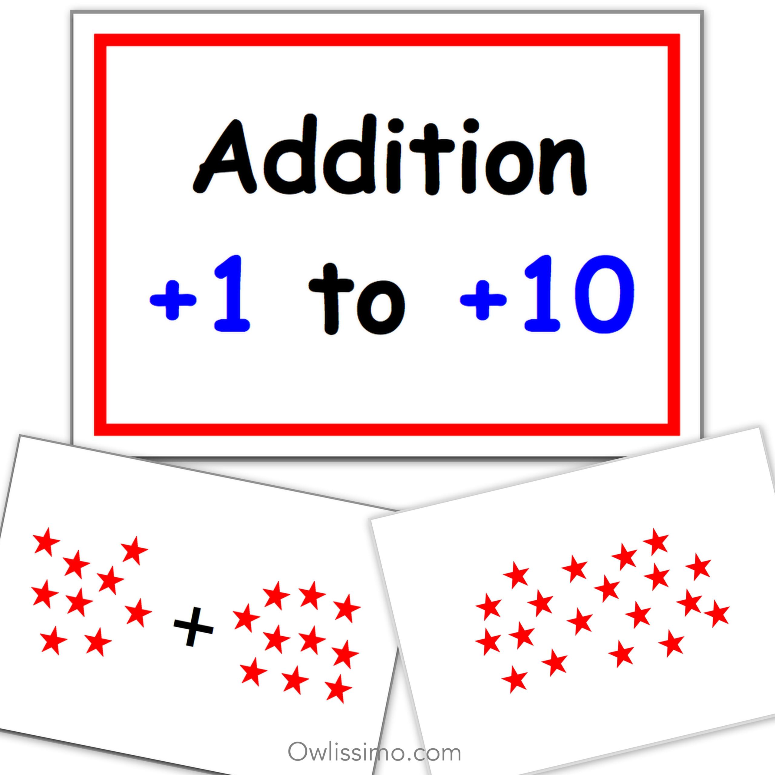 Printable Flashcards - Addition