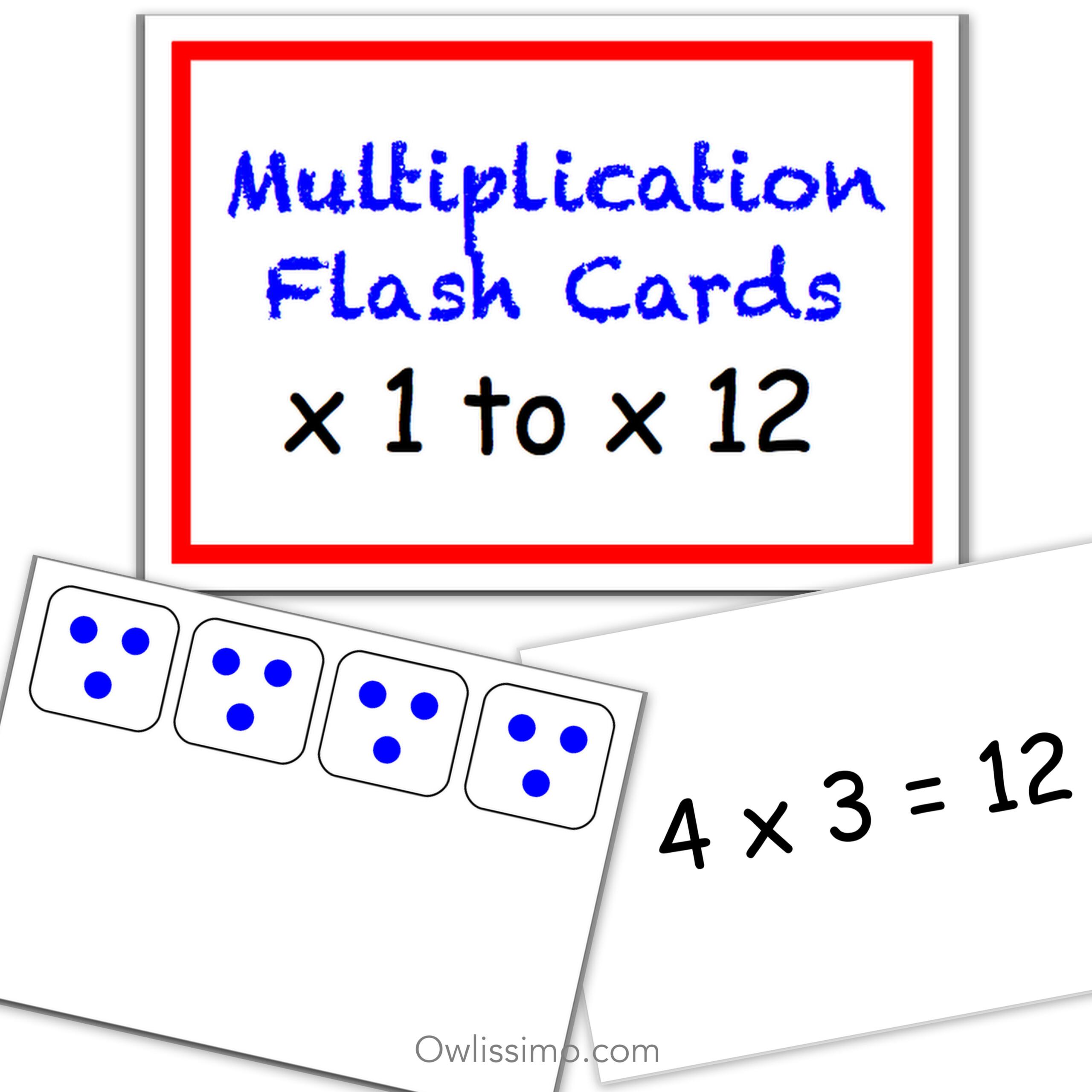 Printable Flashcards - Multiplication