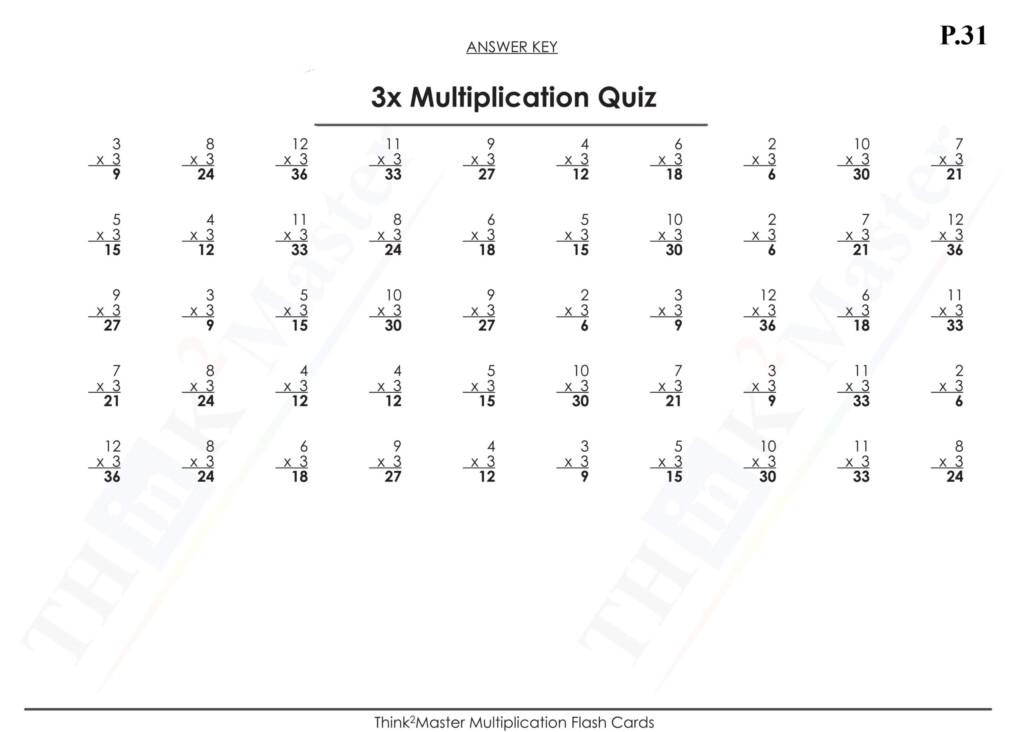 Printable Multiplication Flash Cards 1 15