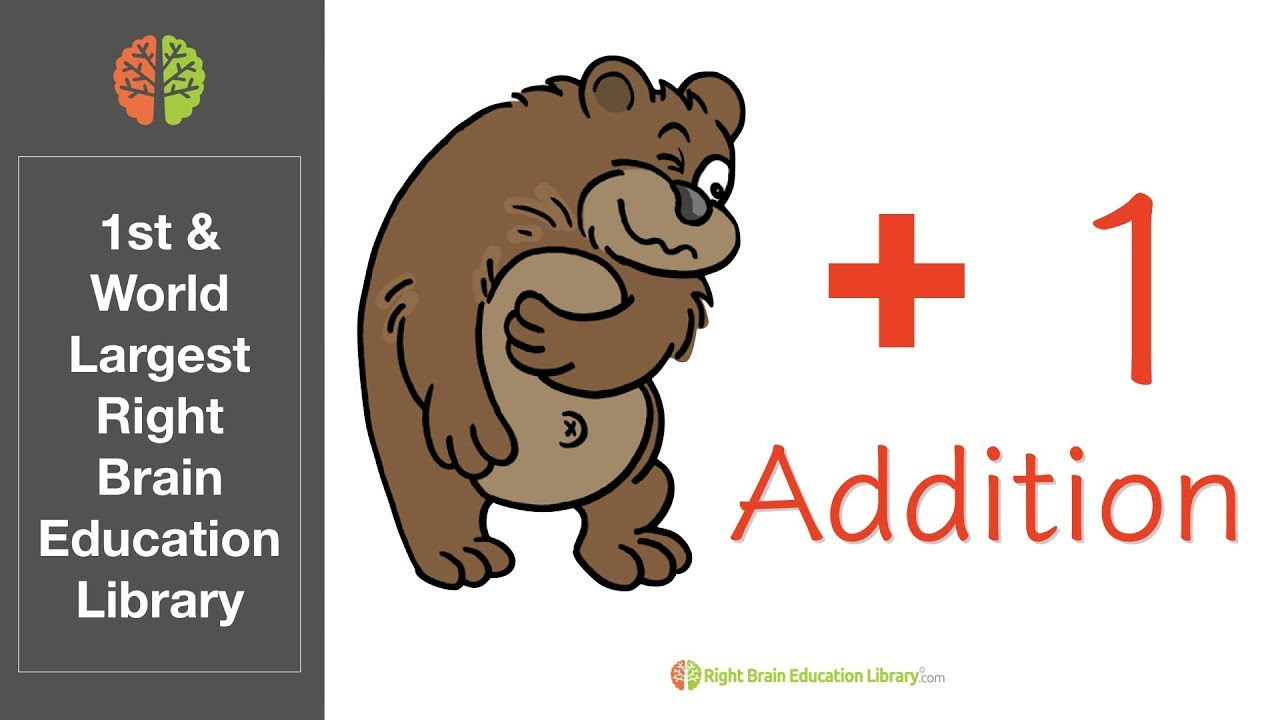 Right Brain Addition Math Flash Cards (Speed 1) - Glenn Doman Method