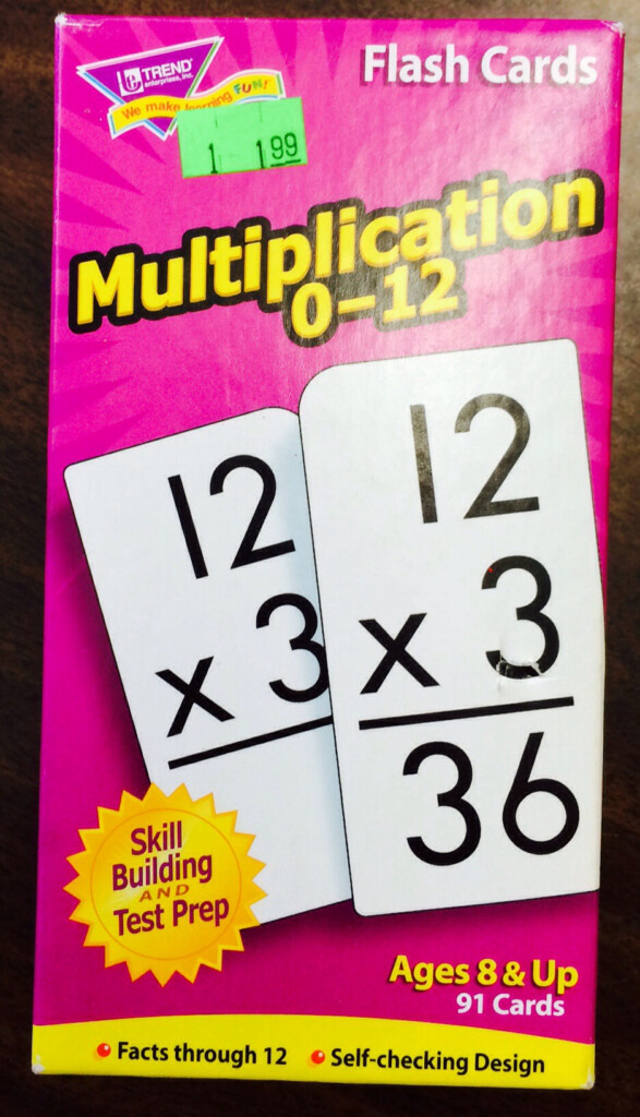 Secondhand Store Score: Multiplication Flashcards
