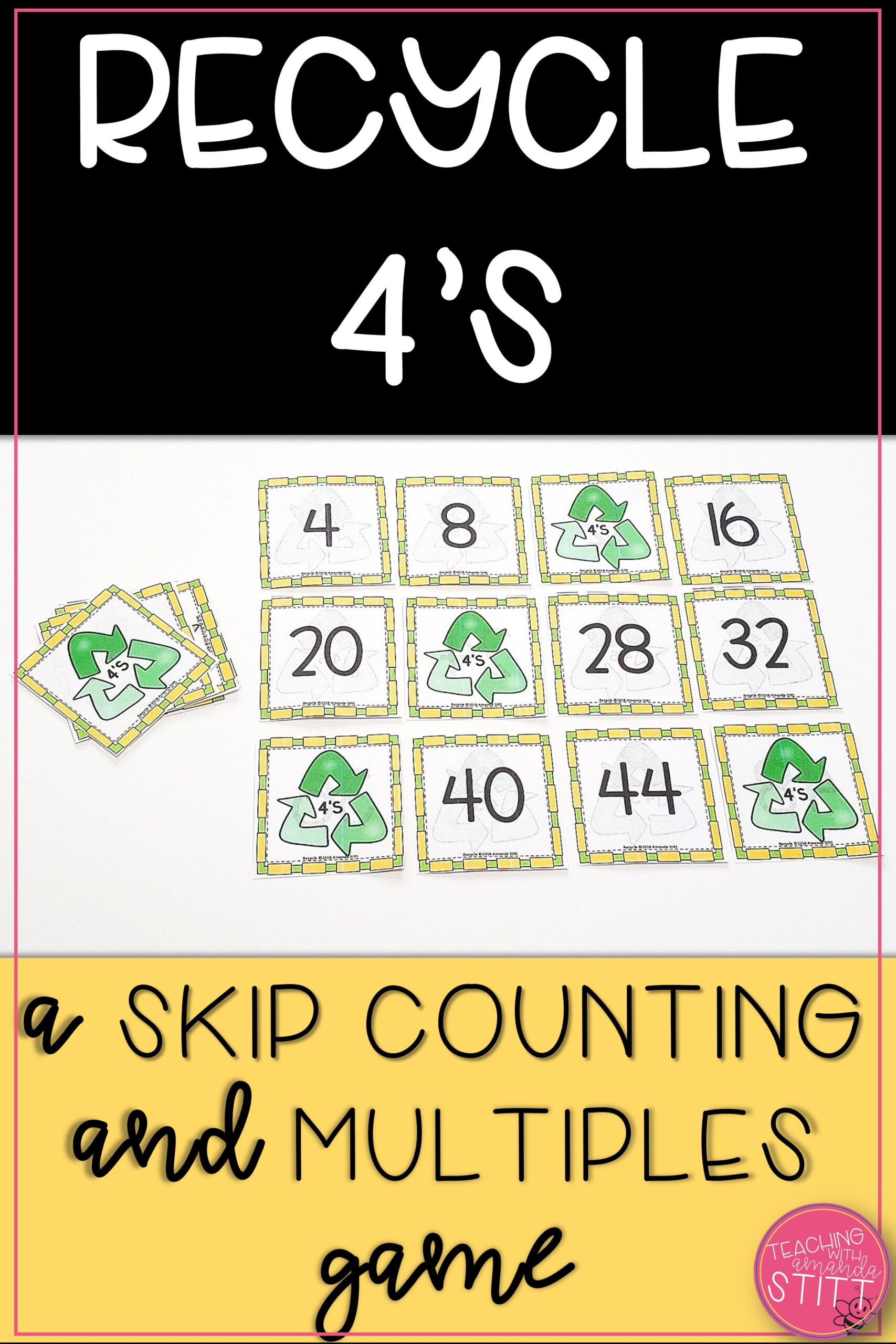 Skip Counting Game | Multiplication Facts Game | 4S (With