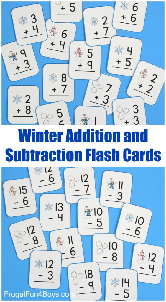 Snowball Addition And Subtraction Math Games | Math Flash