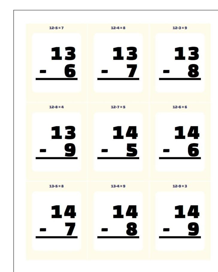 Multiplication Flash Cards 1-9