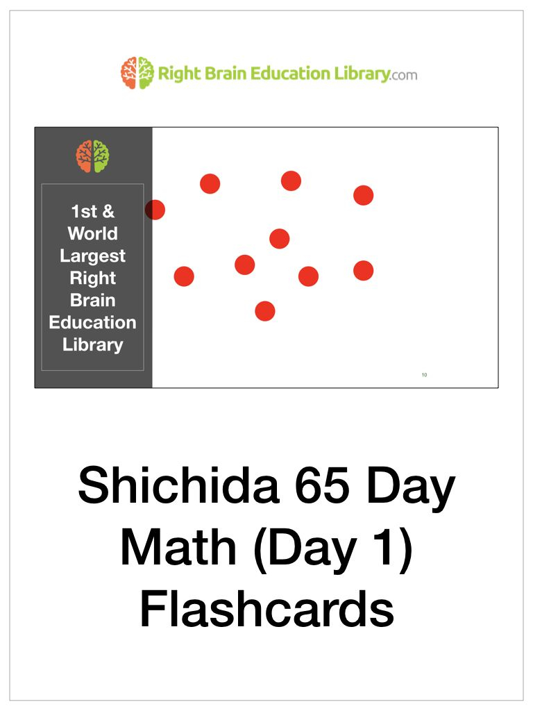 The Shichida 65 Day Math Program Consist Of Dots Flashcards
