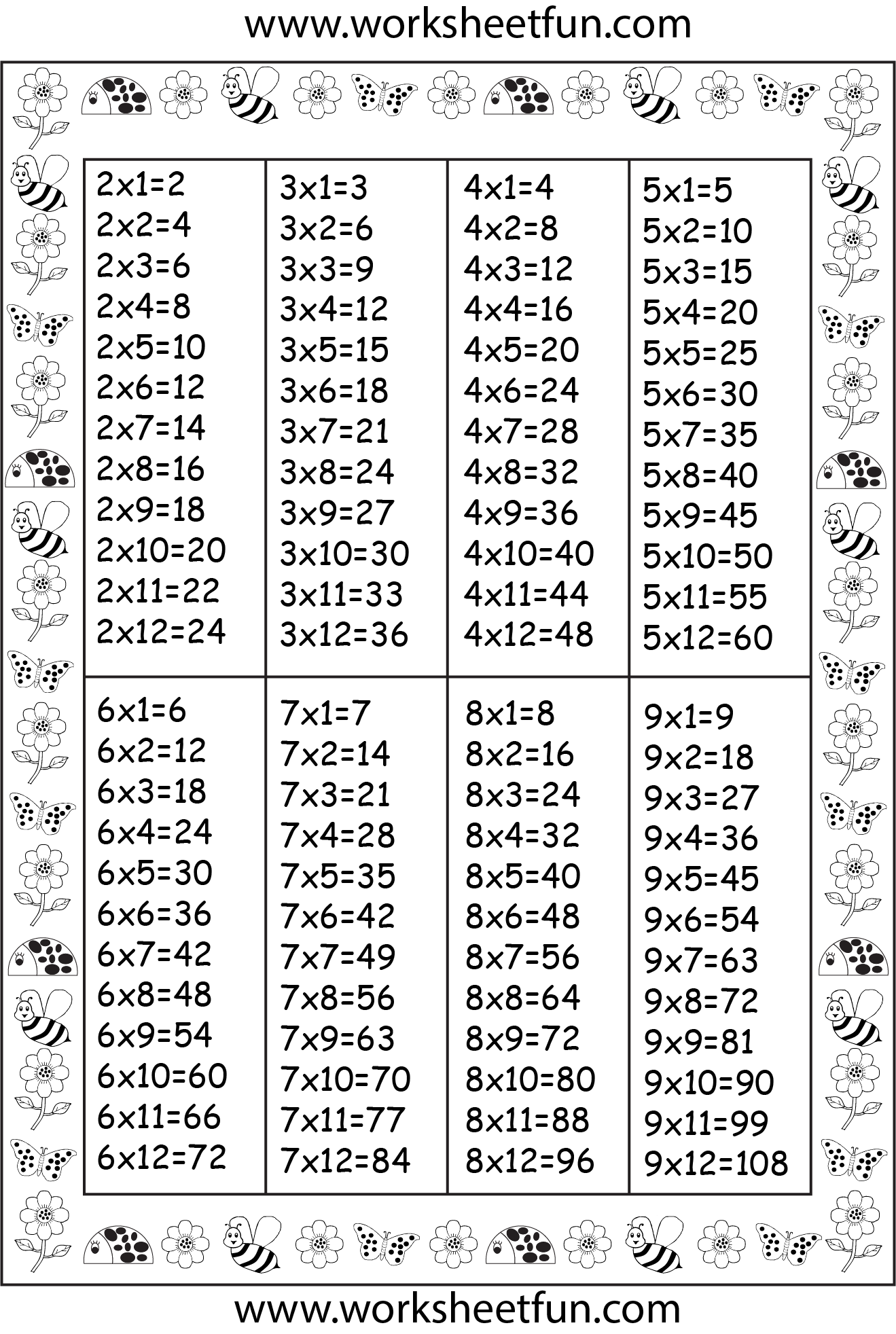 Times Table Chart | Times Table Chart, Homeschool Math
