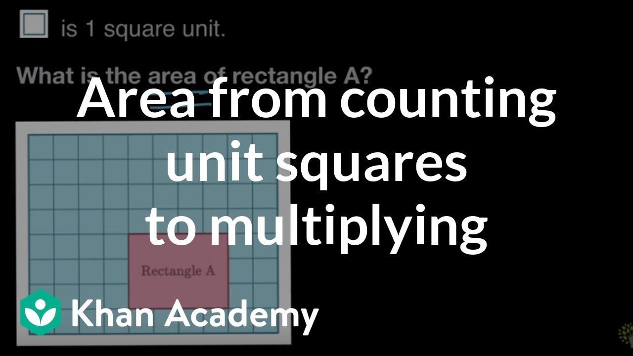 Transitioning From Counting To Multiplying To Find Area | 3Rd Grade | Khan  Academy