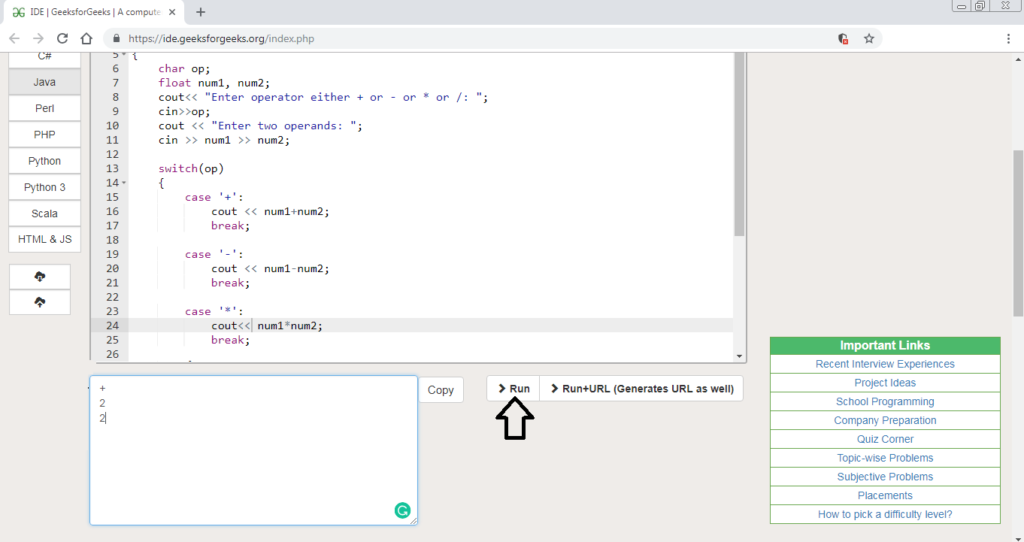 C/c++ Program To Make A Simple Calculator   Geeksforgeeks