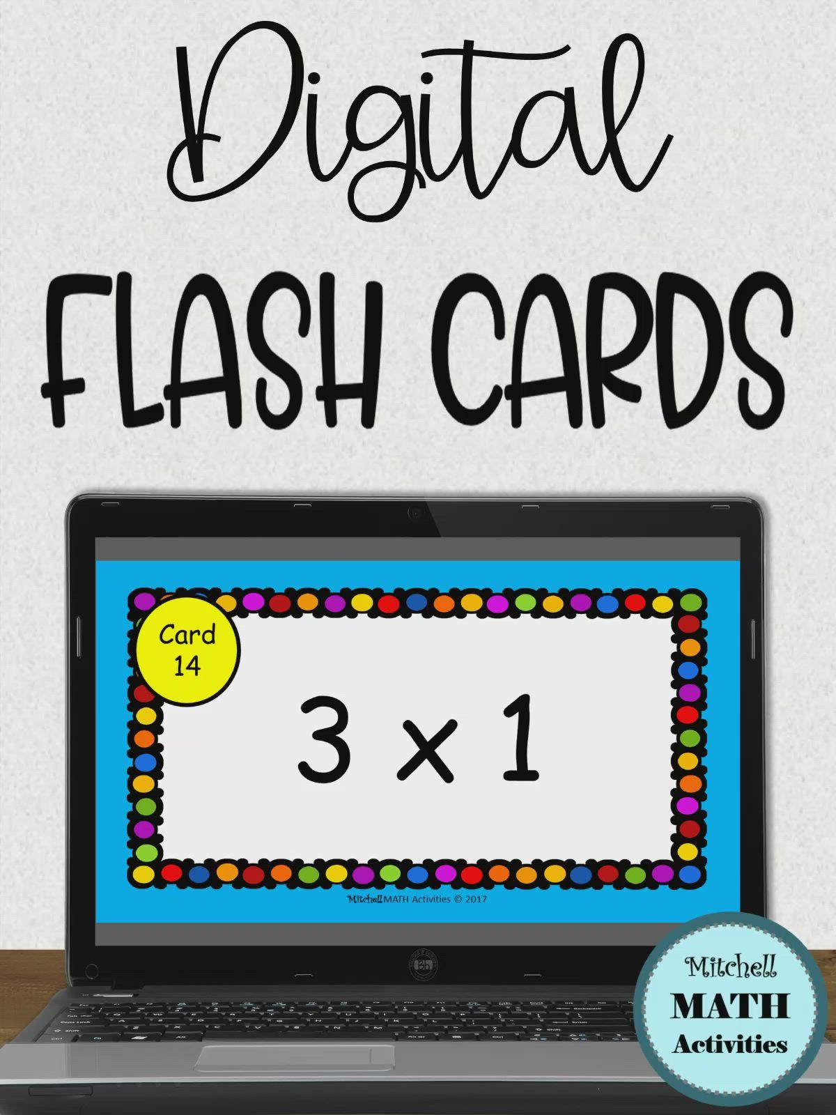 Digital Multiplication Flash Cards [Video] In 2020 | Multiplication  Flashcards, Flashcards, Distance Learning