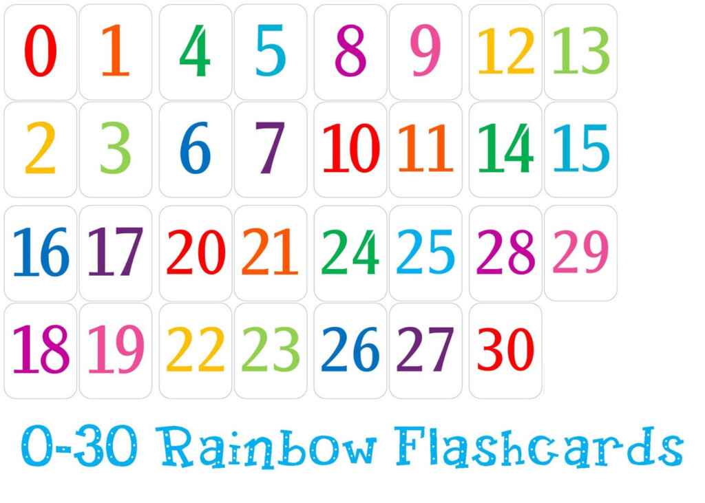 Free Printable Number Chart 1 30 | Activity Shelter