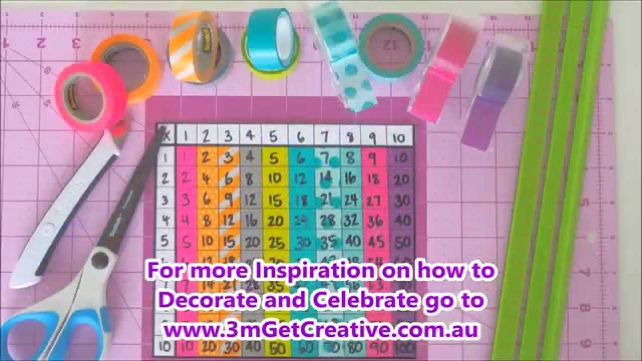 How To Create A Multiplication Table With Scotch® Expressions Tape