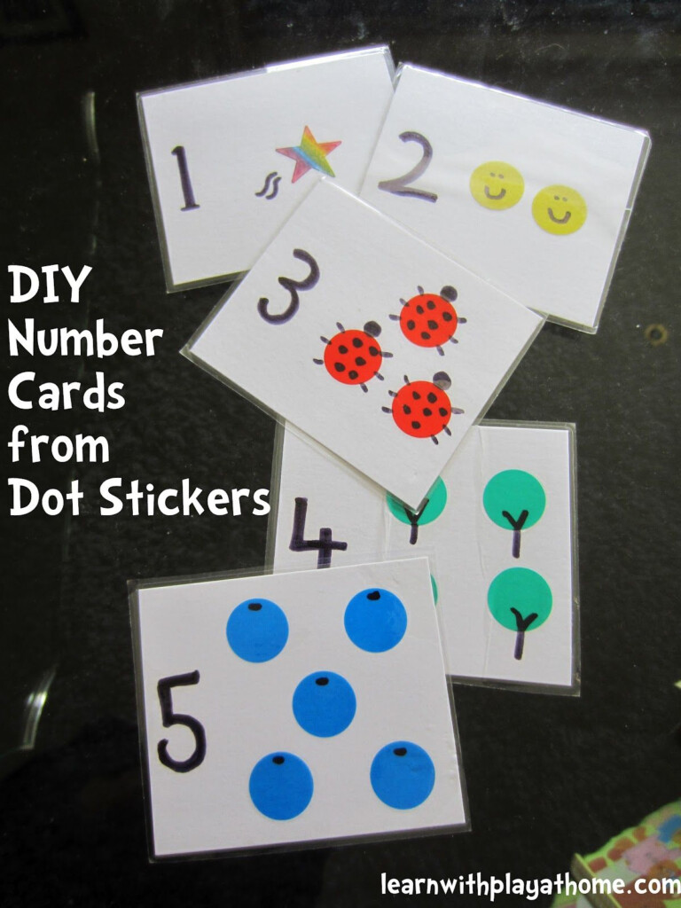 Make Your Own Number Cards With Your Child. Use Them As
