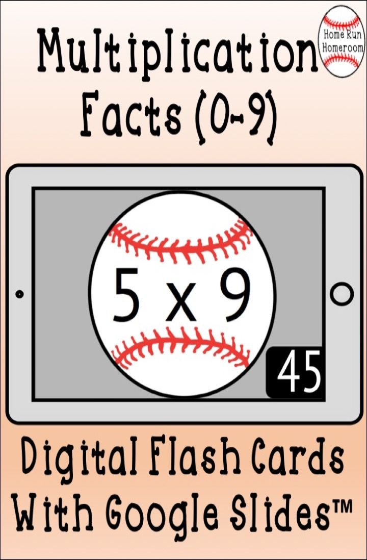 Multiplication Facts Google Classroom™ Digital Flash Cards